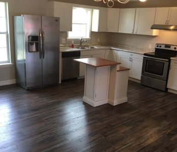 Kitchen Flooring Installed by New Creation Construction